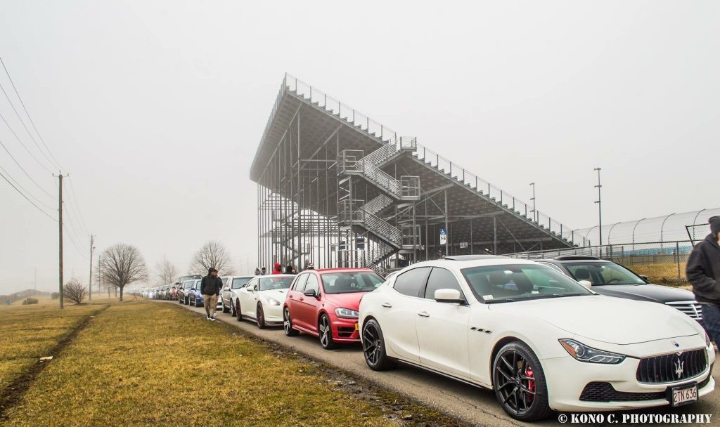 Cars Lined Up at Watkins Glen International Race Track